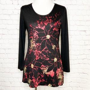 MCCC Sportswear Poinsettia Long Sleeve T-shirt NWT